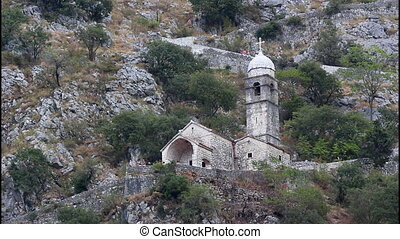 Church on the city walls - Church on the walls above Kotor