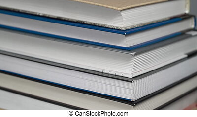 Books turning close up