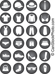 dressing icons clothes collection  fashion  Symbol sign