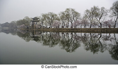 West Dyke Xidi - The West Dyke Xidi of summer palace in...