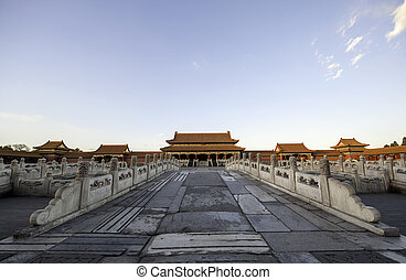taihe palace - The taihe palace of forbidden city under the...