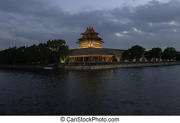 watchtower - The watchtower of the Forbidden City in...
