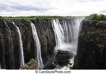 Victoria Falls - The Victoria Falls from air in Zimbabwe.