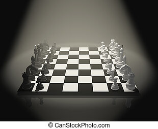 Chess  - 3d chess on a board