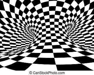 Illusion - The abstract 3d tunnel