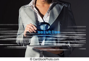 Business woman found solution in information security,...
