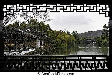 The traditional garden in Xihu lake.