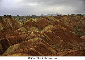 Danxia mountain - The Danxia mountain in Zhangye of Gansu...