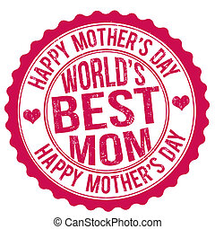 Mother's day stamp - Happy mother's day grunge rubber stamp,...