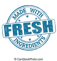 Made with fresh ingredients stamp