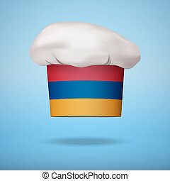 Armenian national cuisine - Chef cap with the flag of...