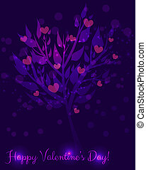 Abstract Valentine's day tree