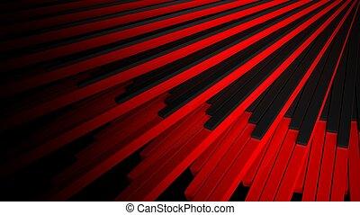 Abstrakt, Schwarz, rotes, hintergrund,  stair-like