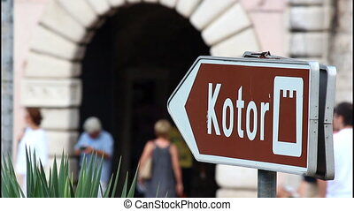 City gate, Kotor, Montenegro - Sign, Entrance, old city...