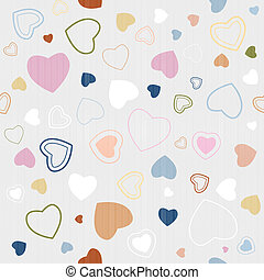 Abstract Retro Textile Seamless Hearts Pattern