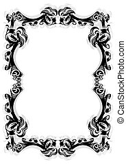 Abstract frame - Illustration of abstract frame in black...