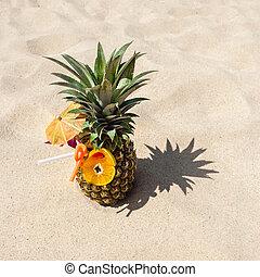 Pina, colada, tropical, piña, cóctel