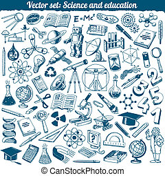 Science And Education Vector Set - Science And Education...