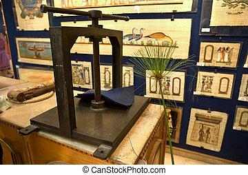 Papyrus printing house