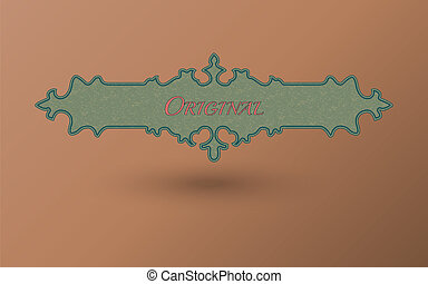 Vector frame. Vintage card