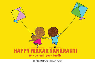Makar Sankranti - illustration of Makar Sankranti wallpaper...