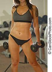 athlete sports woman lifting weights