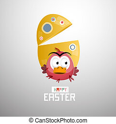 Abstract Easter Egg, Chicken