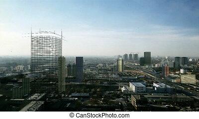 Beijing Blueprint - Beijing CBD timelapse