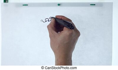 drawing hand - hand drawing 2d animation in stop motion