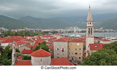 Budva, view from fortress - City of Budva, Montenegro, view...