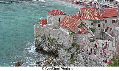 Budva View from the fortress, Santa Maria In Punta