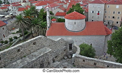 Old City of Budva, Montenegro, Church of Holy Trinity