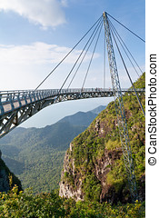 Air Bridge in Malaysia - Hanging bridge of Langkawi island,...
