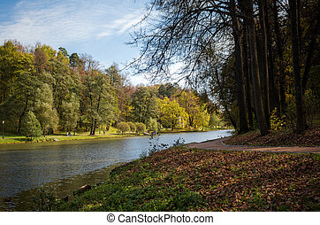 Tsaritsyno Park - Autumn in the Tsaritsyno Park in Moscow,...