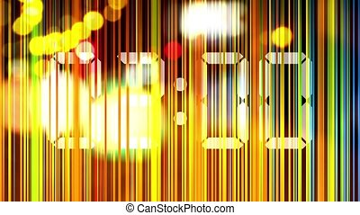 Abstract animation, colorful lights