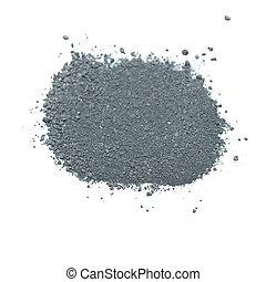 Pile Gunpowder black powder Isolated on white background