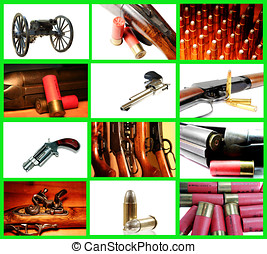 Weapons Collage - Collage depicting a collection of weapons
