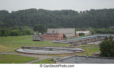 water cleaning facility - panorama of water treatment...