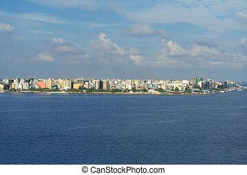 Male city skyline - Islan Male city skyline Malideves...