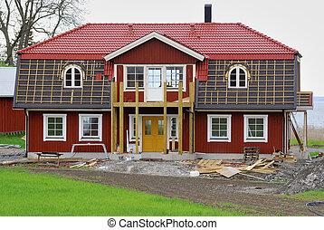 日誌, 房子, 建造, 新