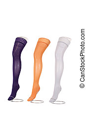 Colorful compression stockings for treating different venous...