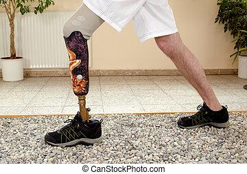 macho, posthesis, wearer, treinamento