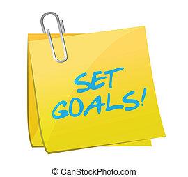 set goals post illustration design