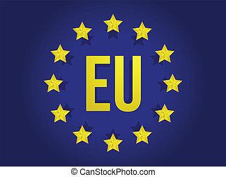 european union flag illustration design graphic artwork