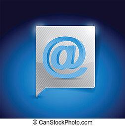 internet message bubble illustration design