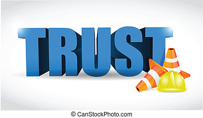 trust under construction illustration design