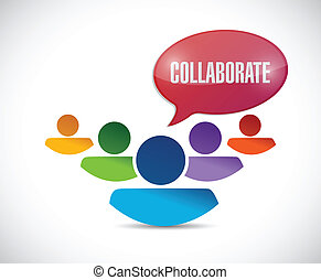 teamwork collaboration illustration design over a white...