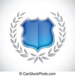shield award illustration design over a white background
