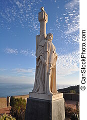 Cabrillo national monument - Juan Rodriguez Cabrillo statue...