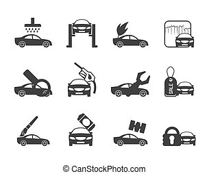 ar and automobile service icons